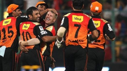 Royal Challengers v Sunrisers, IPL 2015, Bangalore