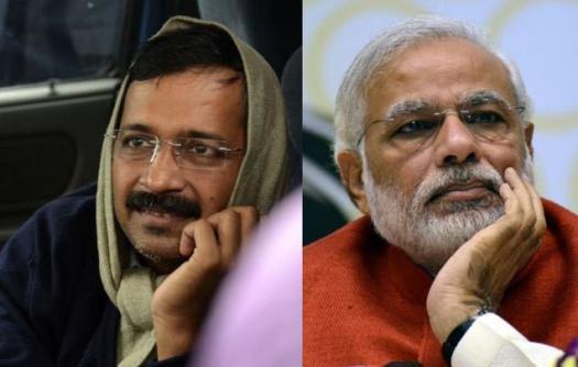 Prime Minister Narendra Modi and Delhi Chief Minister Arvind Kejriwal.